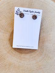 Rose Gold x Silver Earrings
