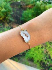 Quartz Geode Drawstring Bracelet