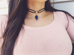 Blue Arrow Choker