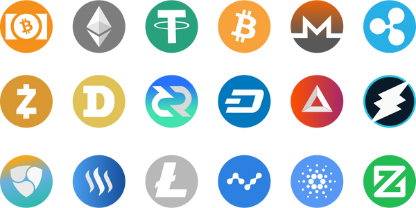 The different cryptocurrencies currently available