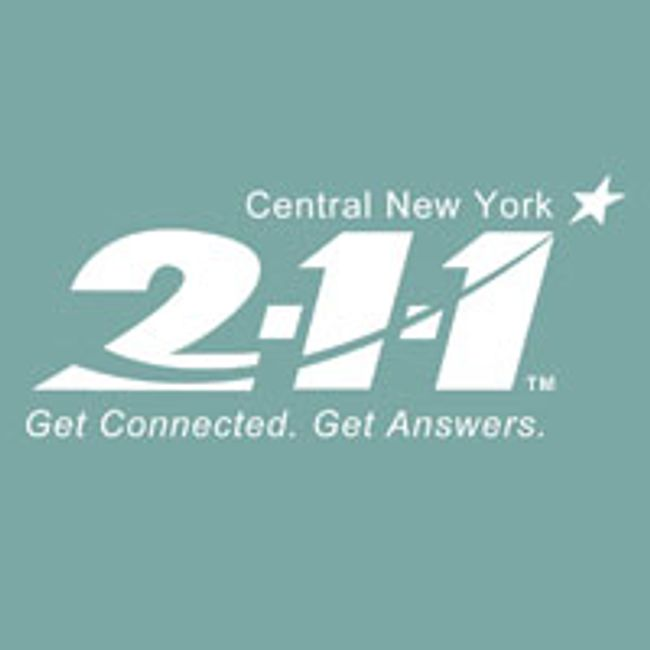 Locating basic resources such as food, shelter, employment by calling 211 in Central New York.