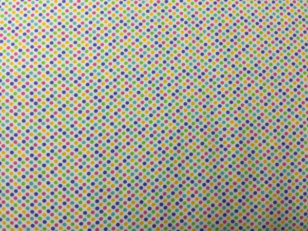 MODA Giggles colorful dotted fabric - dots pink purple yellow green blue