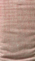 Red and White Checked - Checkered FLANNEL Fabric