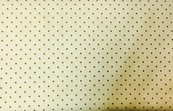 Tan - Cream background fabric with brown polka dots