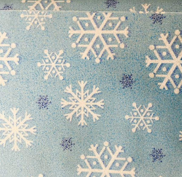 Michael Miller Light Blue Snowfall Sparkle Fabric CM2050-BLUE-D