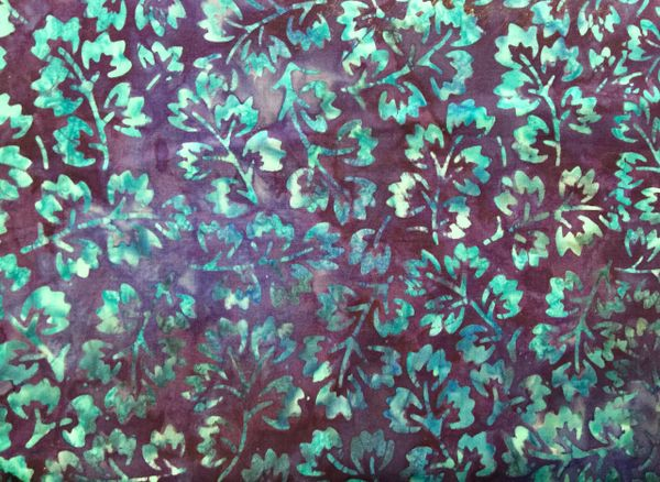 MODA Breezy Batiks Royal Blue with bright blue leaves/flowers 4323 34