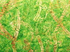AE nathan Co Indo Batiks green background with green and reddish pattern