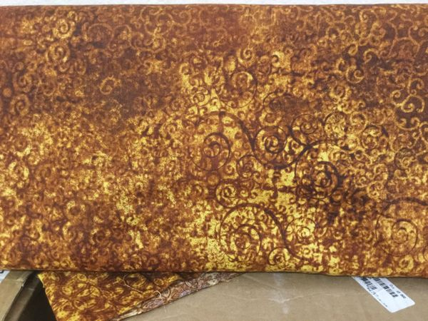 Quilting Treasures Scrollscapes. Light dark gold