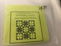 Winding ways quilt acrylic templates