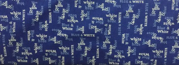 Moda White and Blue Spa Fabric