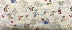 Wilmington Prints Snow Buddies Snowmen Fabric