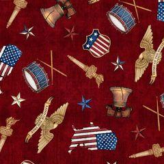 Quilting Treasures Brick American Toss American Pride