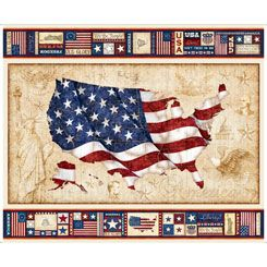 Quilting Treasures American Pride 1 yard panel