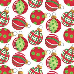 Blank quilting Holiday Beach red and green ornaments