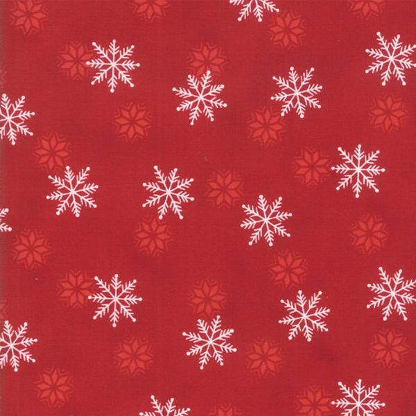 Moda Holiday Lodge Red Snowflakes