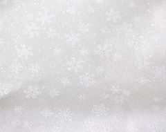 Moda Holiday Forest Frost Glitter White Snowflakes