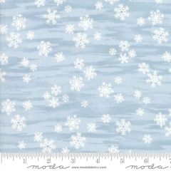 Moda Forest Frost Glitter Holiday Blue White Snowflakes