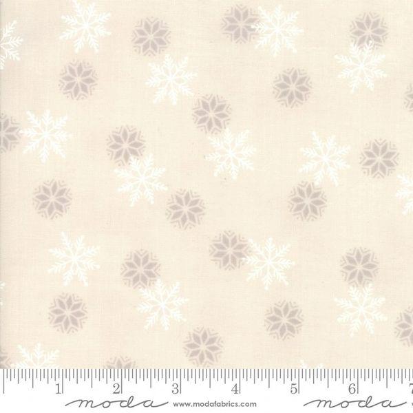 Moda Holiday Lodge Tan White Snowflakes