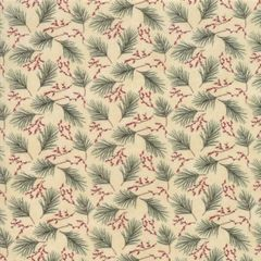 Moda Winter Manor Holiday Twigs Green Red Small