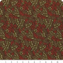 Moda Winter Holly Berries Green Red Holiday