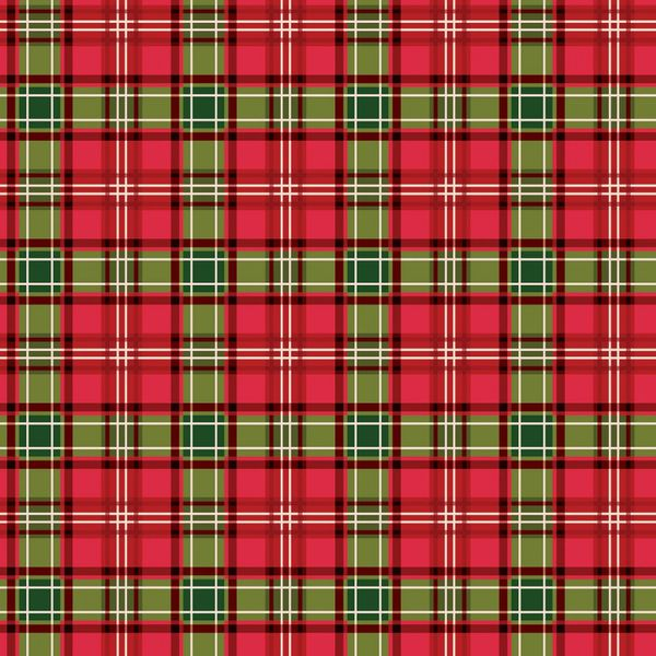 Riley Blake Christmas Memories Red Green Plaid Holiday