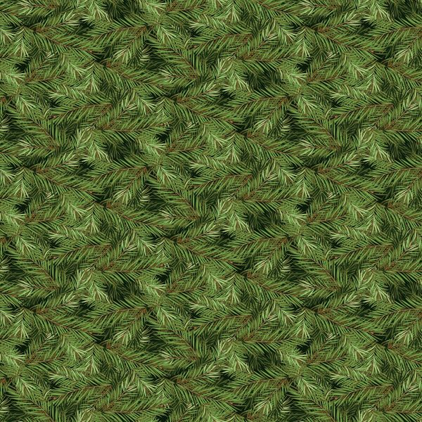 Riley Blake Christmas Memories Holiday Green Evergreen