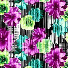 Studio E Beauty In Bloom Flowers Purple Green Black Blue