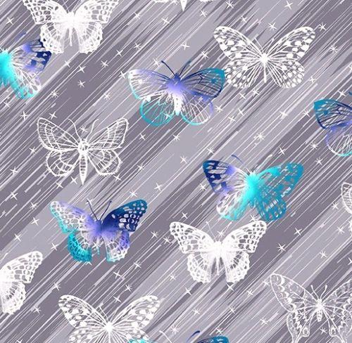 Kanvas Studio 07965-11 Butterfly Twinkle Gray (Social Butterfly)