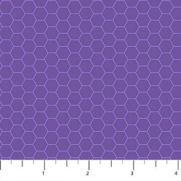NORTHCOTT Chelsea 23064-82 Blue Purple Honeycomb Blend Imported