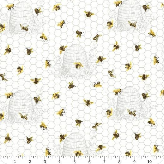 NORTHCOTT Chelsea 23060-10 Multi White Beehive and bee Imported