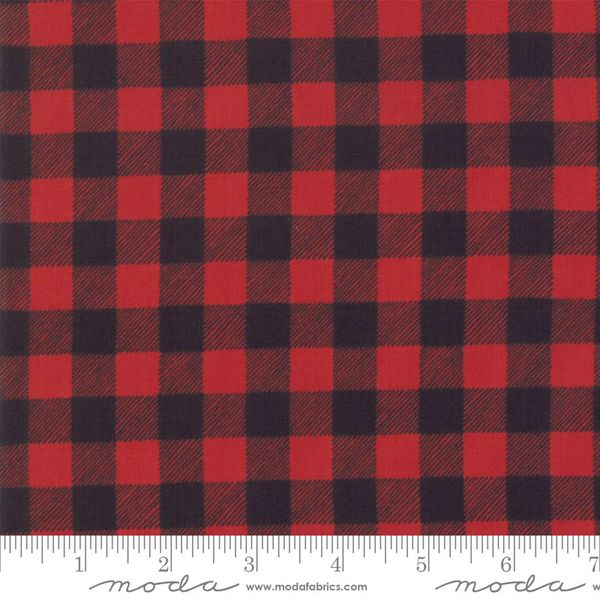 Moda homegrown holidays red black check