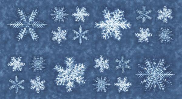 Moda Shimo bluish grayish big snowflakes
