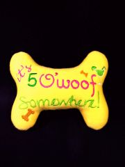 Dog Toy - It's 5 O'Woff Somewhere!