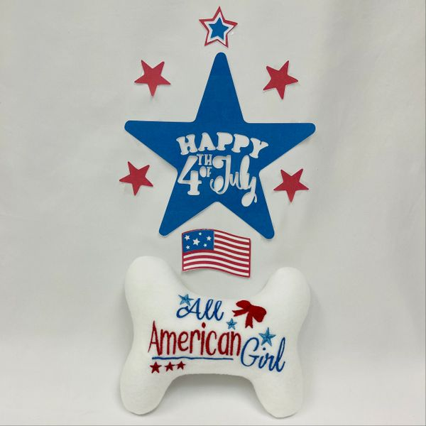 All American Girl Dog Toy