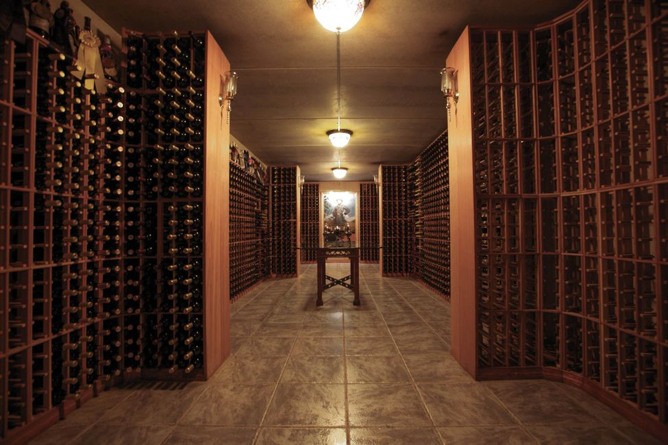 Gray Ghost's wine library holds 5,800 bottles of wine