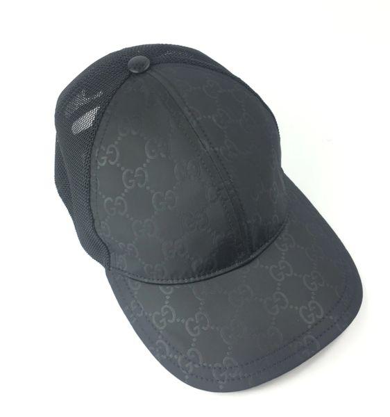 94e04c24 Gucci GG Black Nylon Canvas Adjustable Baseball Cap, Size XL, #510950