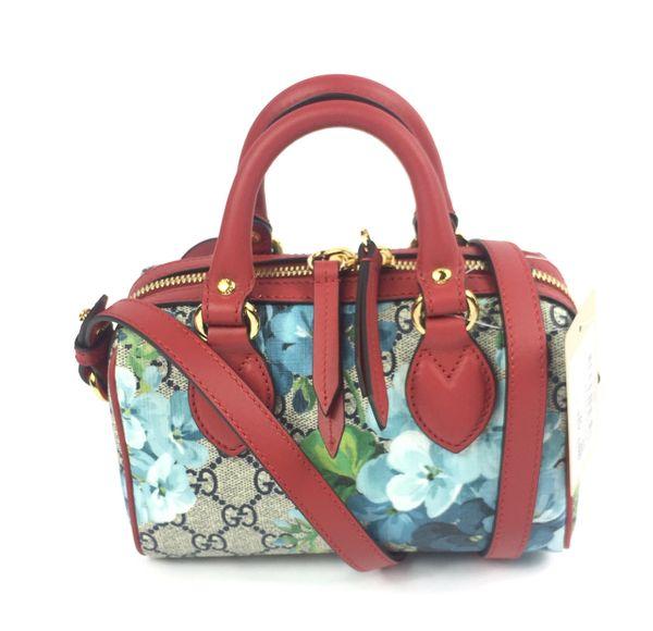a3dc1285d7dd Gucci #546312 Blooms GG Supreme Mini Boston w/Strap and Box   Elgie Chic  Boutique