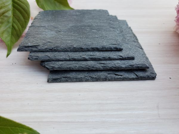 "3"" x 5"" Premium Grade Square Slate, 4 pc. set, $8.25 SHIPPING WITHIN THE CONTINENTAL U.S. ONLY!!"