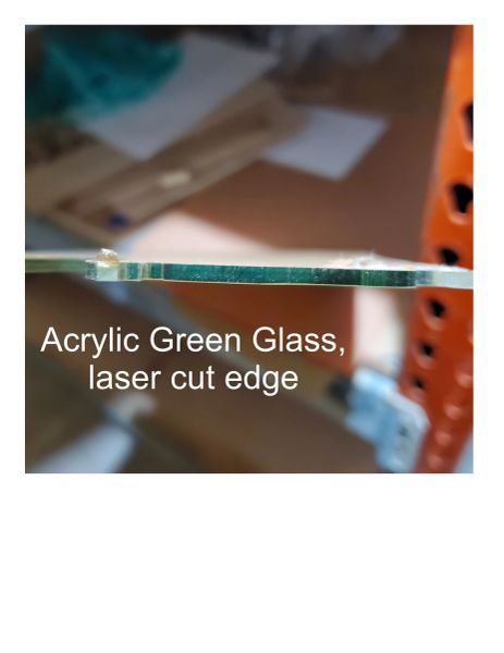 "Green Glass Acrylic Sheet, .118"" thick"