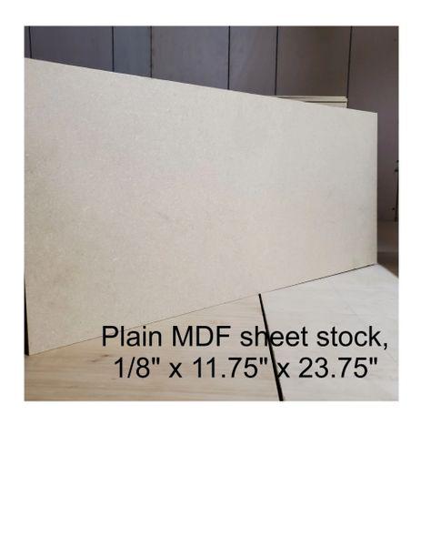 "Plain MDF wood panels, 1.8"" thick"