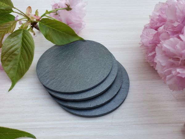 "3"" Premium Grade Round Slate, 50 pc./Case, FREE SHIPPING WITHIN THE CONTINENTAL U.S. ONLY!!"