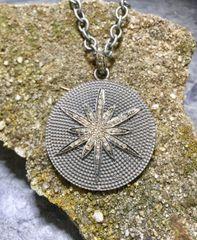 Diamond Star on Hammered Zinc