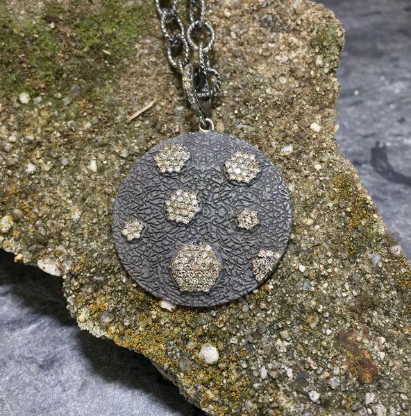 Zinc with Diamond Hexagons Pendant