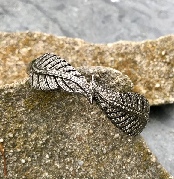 Double Diamond Leaf Bracelet