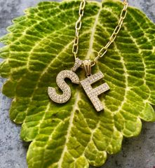 14K Gold and Diamond Initial Pendants- custom ordered