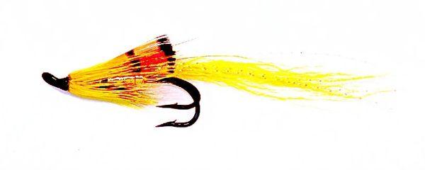 Ally's Shrimp Yellow Salmon Fly double hook