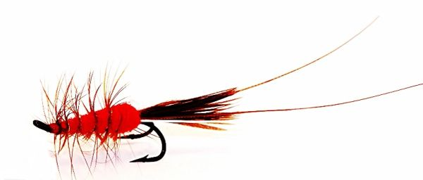 Frances Salmon Fly double hook red