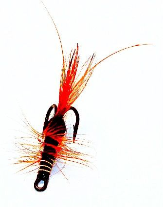 Frances Salmon Fly double hook black