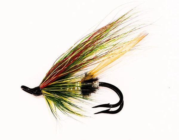 Green Highlander Salmon Fly double hook