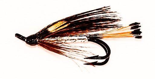Heggeli Salmon Fly double hook